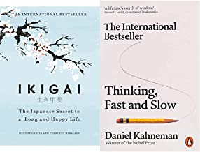Ikigai+Thinking, Fast and Slow(Set of 2books)