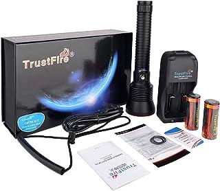 Linterna profesional de buceo TrustFire DF70-375 metros, 3200 lúmenes, inmersión hasta 70 metros, 4 modos uso (B - Kit completo)