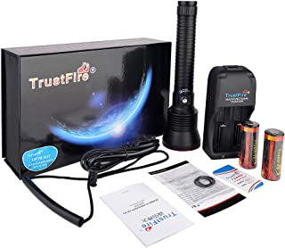 TrustFire DF70 Dive Light 3200 Lumens Diving Flashlight with XHP70 Underwater Waterproof to 230ft for Night Scuba Diving - with 26650 Rechargeable Battery and Charger