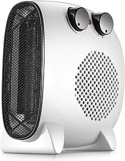 Radiador eléctrico MAHZONG Calentador de Ventilador, Calentador de Ventilador eléctrico portátil Mini Calentador de Aire Acondicionado Ajustable Blanco