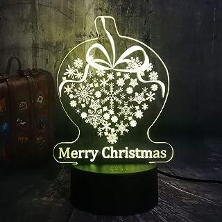 Qaq Starry Skyregalo Copo De Nieve 3D Led Rgb Night Lights Usb Lámpara De Escritorio Decoración Para El Hogar Regalo De Cumpleaños De La Novedad Del Juguete Del Niño