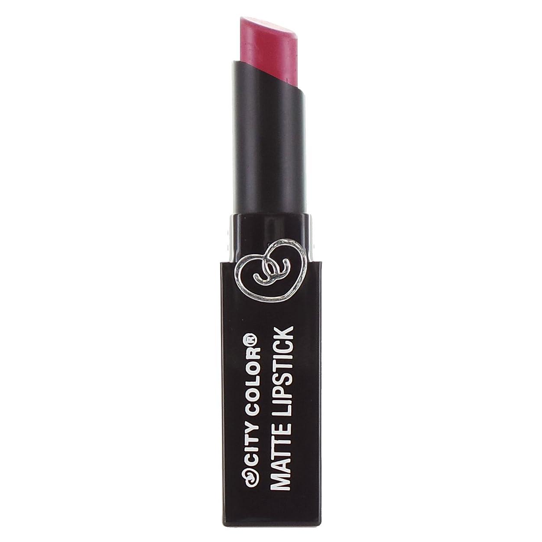 野生認可ストレンジャー(3 Pack) CITY COLOR Matte Lipstick L0050A - Fig (並行輸入品)