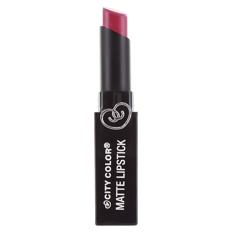 仮定する粉砕する大騒ぎCITY COLOR Matte Lipstick L0050A - Fig (並行輸入品)