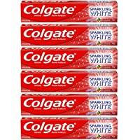 6-Pack Colgate Sparkling White Whitening Toothpaste, Cinnamon (6 ounce)