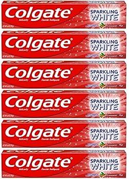 6-Pack Colgate Sparkling White Whitening Toothpaste