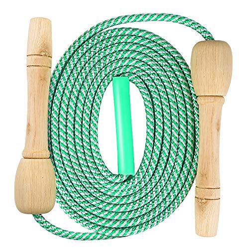 Verstellbare Springseil für Kinder, Springen Seil mit Cartoon Holzgriff und Baumwollseil, Seilspringen, Springseil Damen, Speed Rope Springseil, Outdoor Springseil für Kinder/Herren/Damen
