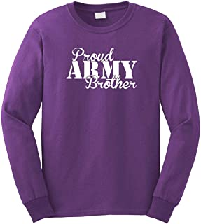 Proud Army Brother Men's Long Sleeve Shirt