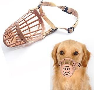 Felicely ペット犬用マスク 口輪 プラスチック 犬用無駄吠え防止器具 拾い食い 噛みつき しつけ 家具破壊防止 キズ舐め止め 口輪 調節可能 小型・中型犬・大型犬 (サイズ 02)