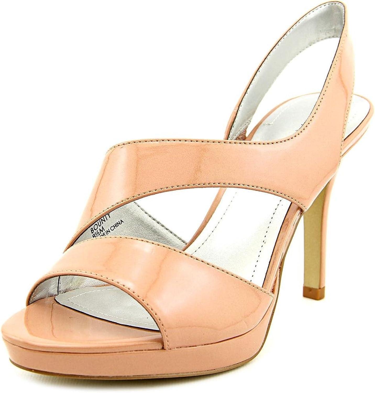 Tahari Bounty Women US 8.5 Nude Peep Toe Platform Heel