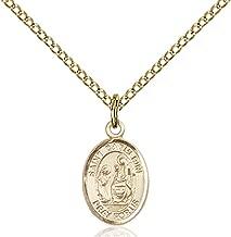 14KT Gold Filled Catholic Patron Saint Petite Charm Medal, 1/2 Inch