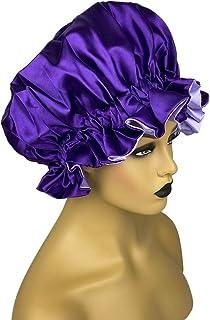 Cospack Satin Bonnet for Natural Hair Bonnets for Black Women Silk Bonnet for Curly Hair Cap for Sleeping Silk Sleep Cap H...