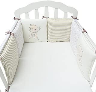 Jiyaru Ropa para cuna camas de bebé 6 Piezas Set Protector