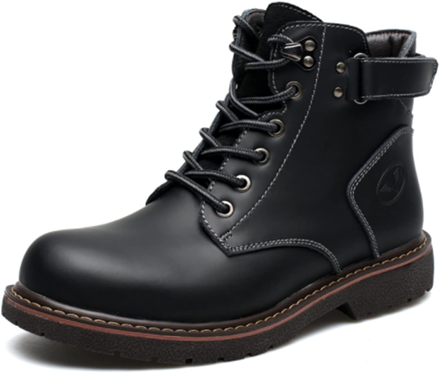 2017 New Men's Martin Boots Casual Mid Boots Non - Slip Comfort Cowhide Retro Hiking Military Tactical shoes