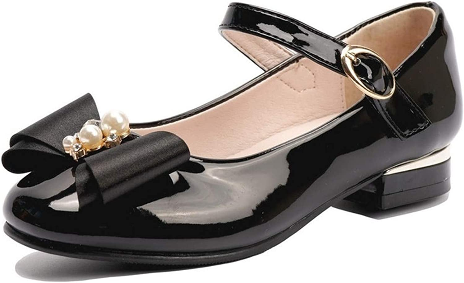 Flyrioc Manufacturer regenerated product Little Girls Dress Shoes At the price of surprise Mary Flats Jane Low Heel Weddin