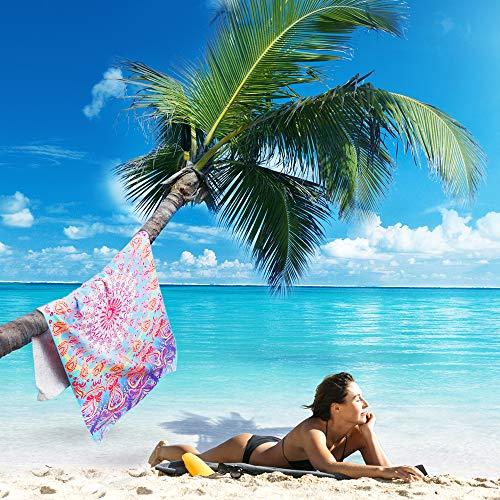 59 inch Cameron gris a prueba de arena Toallas de playa 59 pulgadas para playa y piscina yoga y picnic de camping Toalla de playa ligera de microfibra gris XJJ88 Cameron Blanco