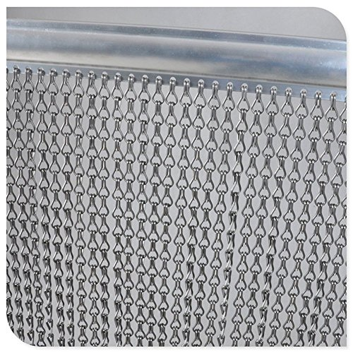 Hot wing Premium-Aluminium-Fliegengittertür Kettenvorhang Metall-Bildschirm für Fliegen