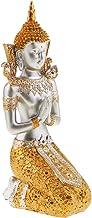 Baoblaze Exquisite Thailand Buddha Statue Praying Figurine Feng Shui Decoration Ornaments Crafts