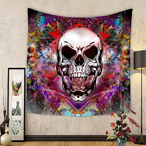 Tapiz decorativo Tapices de pared, Arte decorativo Hogar Dormitorio Sala de estar Dormitorio Tapices Impresión en color Yoga Toalla de playa Manta de mesa Pequeño (130 x 150 cm), Tigre colorido