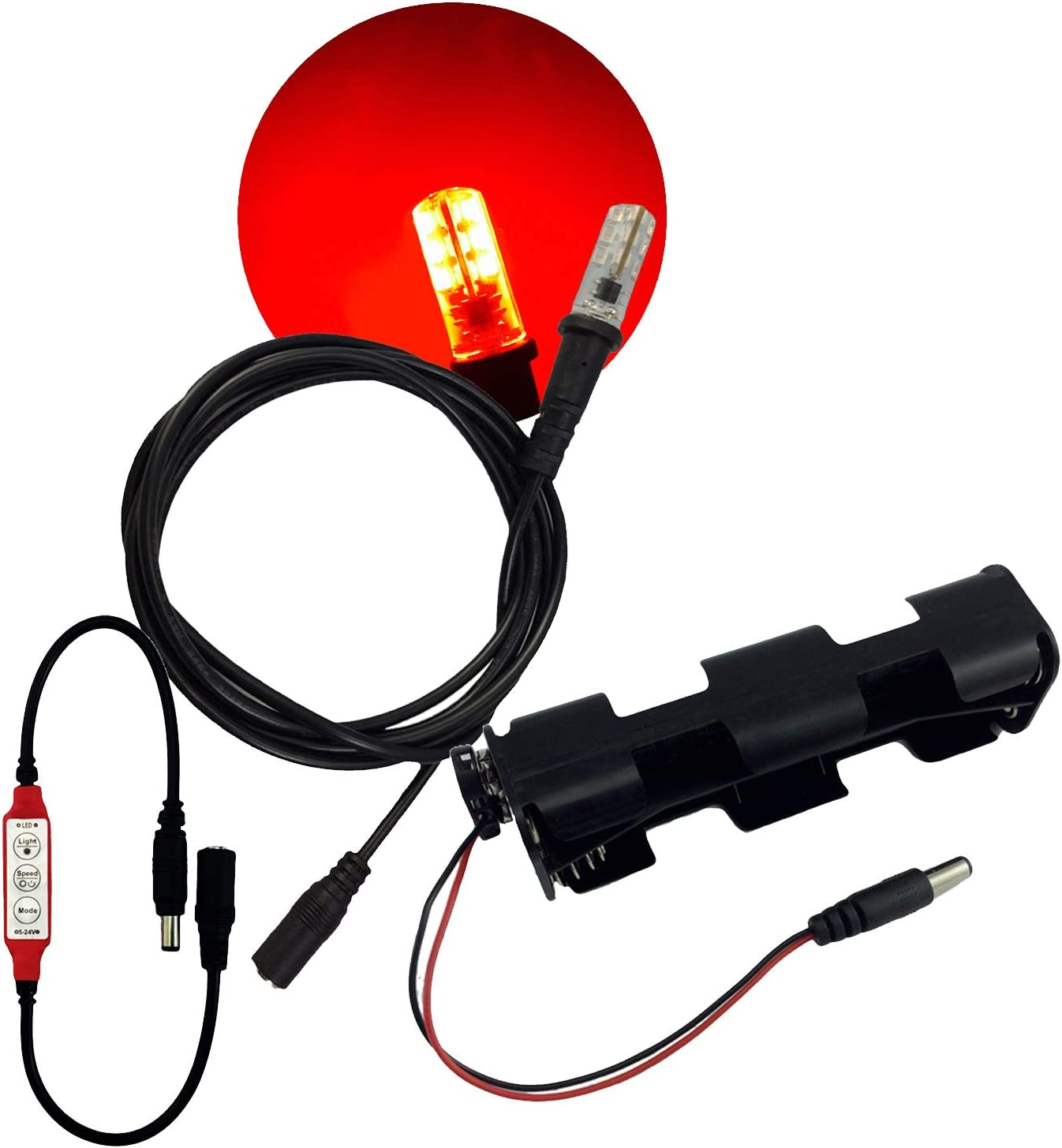 Red led light kit with effects flicker Don't miss the campaign glowing for flame Phoenix Mall control