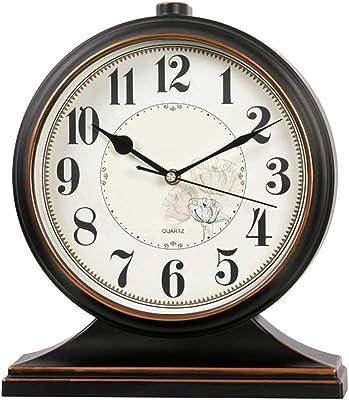 X-HH Reloj de Mesa, Reloj de Escritorio Reloj Europeo Dormitorio ...