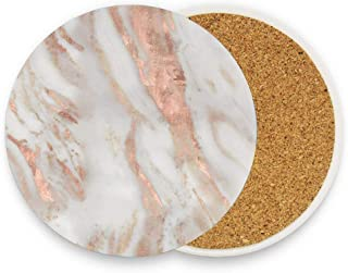 Absorbent Coaster For Drinks - Civezza Rose Gold Marble 1 Pack 4