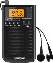 Portable Pocket AM FM Radio - Small Radio with Alarm Clock and Sleep Timer, Digital Tuning Stereo Mini Radio with 3.5mm Headphone Jack for Walking Jogging Gym Camping