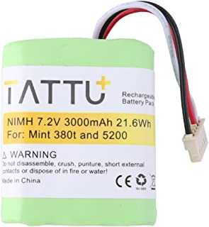 TATTU Replacement Battery for iRobot Braava 380, Mint 5200, 5200B, 5200C- 3000mAh
