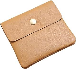 Men's Genuine Leather Money Case Bag Snap On Pouch Wallet Change Holder Card Organizer Accessories الحد الأدنى (Color : Ap...