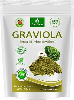 MoriVeda® - Graviola en polvo Extracto de 360g 4:1 polvo de fruta altamente concentrado, producto de calidad (1x120g)