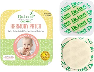 Dr. Loo's NATURAL REMEDIES Organic Herbal Sticker Patches for Cough and Congestion for 2 weeks-12 Months Infants, 12 Patches