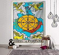 ヨーロッパとアメリカの色のタロットタペストリー家具生地装飾占星術占いインドのタペストリー-7_150x130(フランネル)