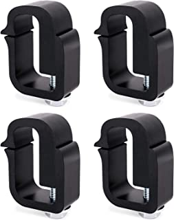 AA-Racks P-AC-03 Clamp for Truck Cap, Camper Shell, Topper, Truck Lid, Tonneau Cover for a Short Bed Pickup Truck (Set of 4),Black