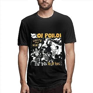 Men Oi Polloi. Retro Printing Round Neck Tees