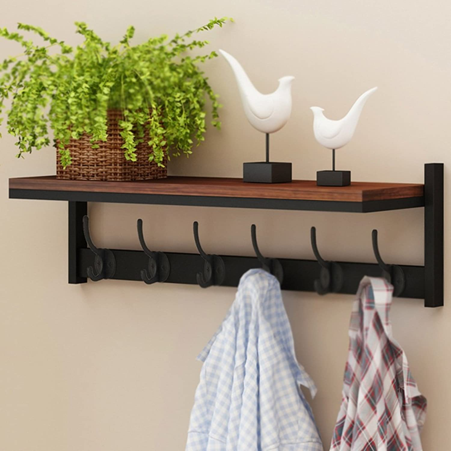 DQMSB Hanger Wall Hanging On The Wall Versatile Simple and Modern Entrance Wall Shelf Entrance Shelf Exquisite and Elegant Strong and Durable Environmentally Friendly and Tasteless Coat Racks