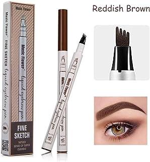 Eyebrow Tattoo Pen-LilyAngel Waterproof Microblading Eyebrow Pencil with a Micro-Fork Tip Applicator Creates Natural Looking Brows Effortlessly(Brown,1 pack)