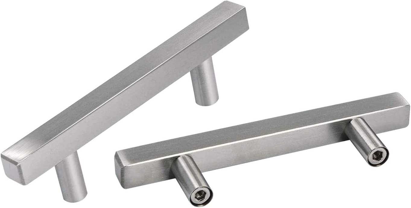3in Hole Center 10 Pack OYX Brushed Nickel Cabinet Pulls Kitchen Hndles for Cabinets Drawer Pulls Kitchen Cabinet Drawer Pulls Bathroom Cabinet Pulls Stainless Steel Cupboard Handles