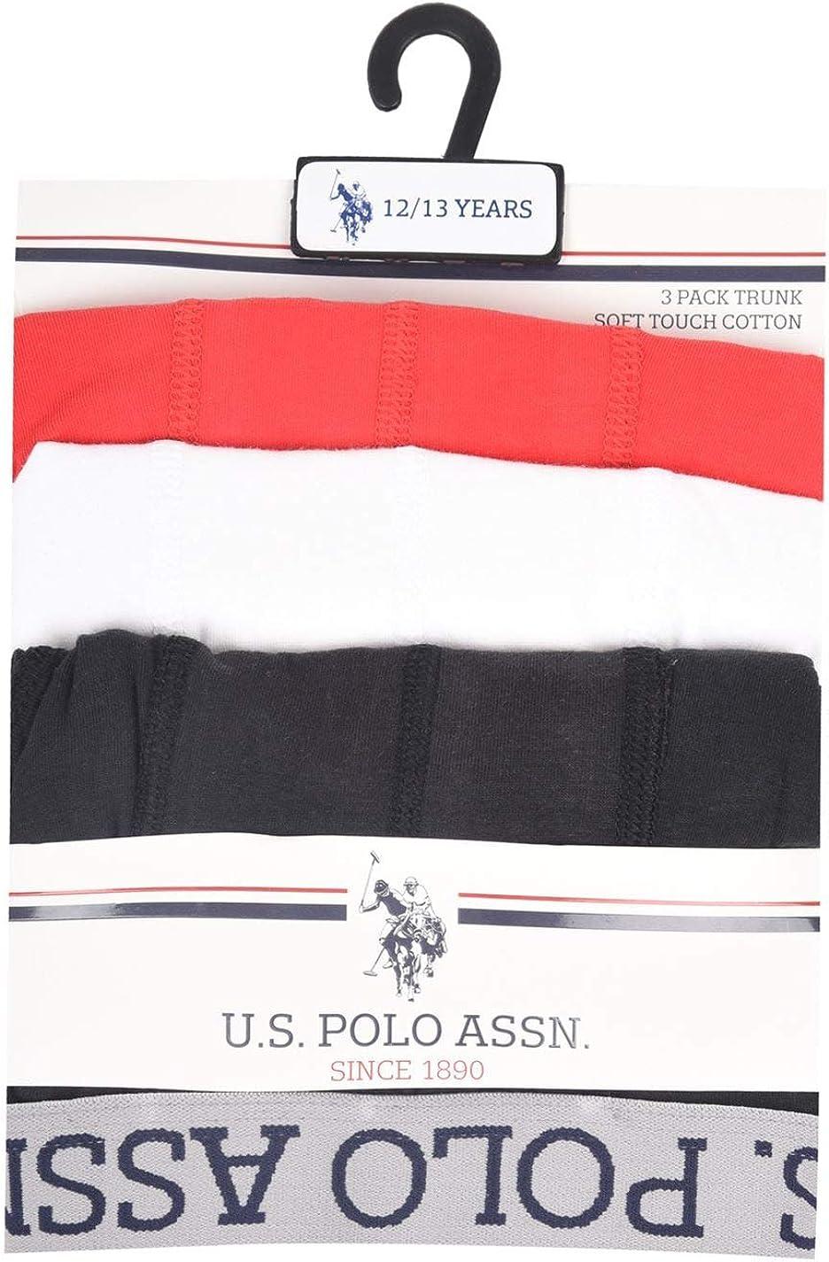 US Polo Assn confezione da 3 Boxer da bambino