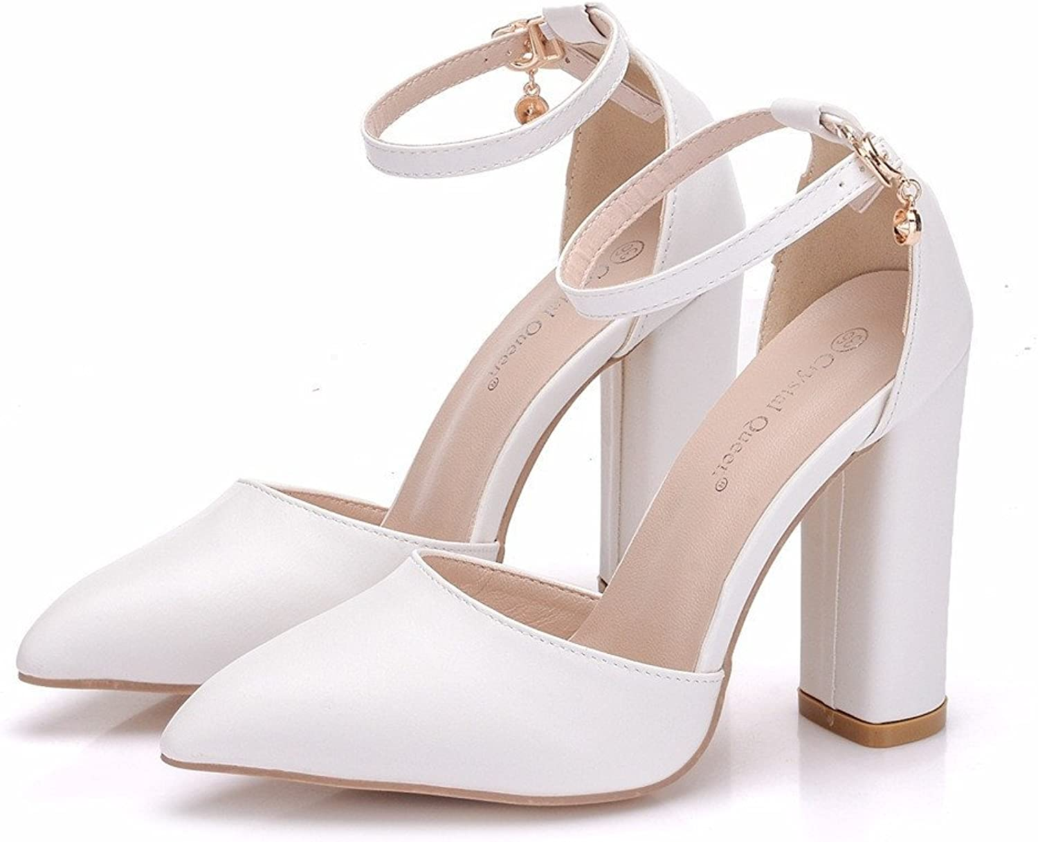 HYP Wedding Women shoes Wedding shoes Women Pumps Closed Toe Wedding Party Court shoes Bridesmaid Bridal shoes Coarse and fine-Point high-Heel shoes