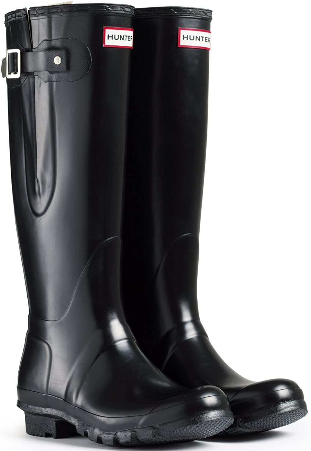 Hunter Original Original Original Adjustable Damen Fest Gummistiefel Wellington Stiefel - Schwarz - 39  309293