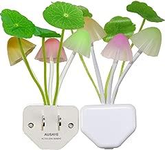 2 Pack Led Night Light w/Dusk to Dawn Sensor,AUSAYE 0.6W Plug-in Night Light Lamp, Night..