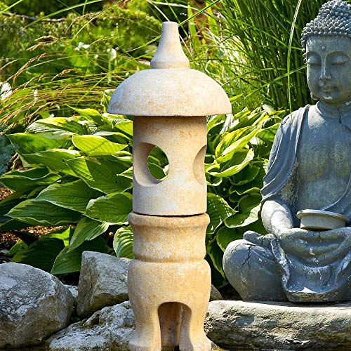 Gartentraum Lanterna di Pietra Giapponese - Makoto/Grigio Antico