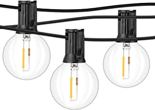 clear globe lights string