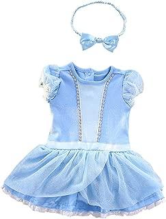 Baby Girls Princess Costume Onesie Romper Bodysuit Halloween Christmas Dress Up