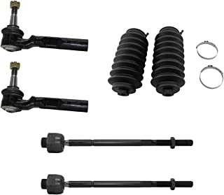 Detroit Axle - 6pc Front Inner & Outer Tie Rods and Rack Boots Kit for 2WD Coil Spring Suspension 1999-2006 Chevy Silverado/Sierra 1500 - [2007 Classic Chevy Silverado/Sierra 1500]
