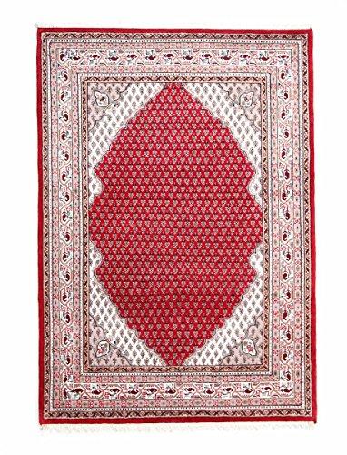 Nain Trading Indo Sarough Mir Gopala 200x141 Orientteppich Teppich Rot/Rosa Handgeknüpft Indien Design Teppich Modern