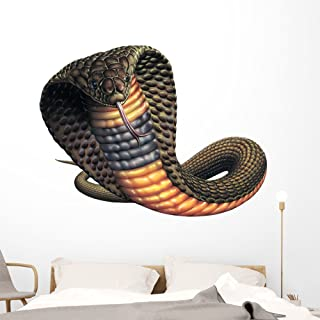 Blackneck Cobra Snake Wall Decal by Wallmonkeys Peel and Stick Graphic (60 in W x 46 in H) WM109202