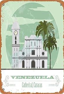 OSONA Venezuela Cathedral Caracas Retro nostálgico tradicional Rust Color Tin Logo publicidad llamativa decoración de la pared regalo