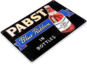 "Tinworld TIN Sign ""Pabst Blue Ribbon Bottled Beer Metal Store Pub Brew Shop Bar Pub A550"