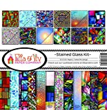 Ella & Viv by Reminisce (ELLLX) Stained Glass Scrapbook Collection Kit, Multicolor
