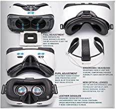 Vr Headset, Sneba Black Virtual Reality, Headset VR Glasses for 3D Video Movies Games for Apple iPhone 7 Plus Samsung Huwei HTC More Smartphones